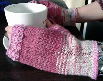 READY to SHIP/Daily Fingerless gloves/Office gloves/Driving gloves/Unique gloves/Handknit armwarmers/топли ръкавици без пръсти