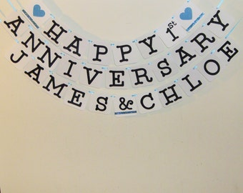Happy anniversary banner happy anniversary wedding signs