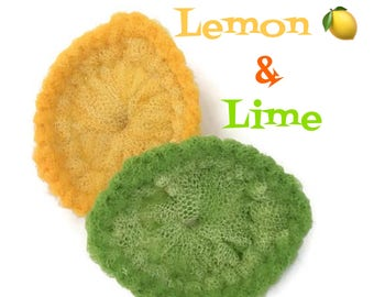 Lemon & Lime Pot Scrubbers,You Choose 2 Through 8 Citrus Scrubbies,Double-Thick,Works Great on All-Clad and Safe on Teflon Housewarming Gift