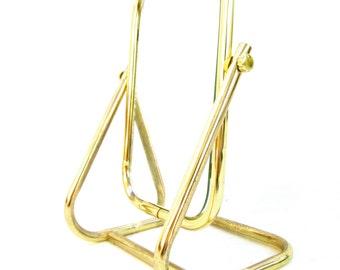 Vintage Glam Brass Free-Standing Tabletop Cheval Vanity Mirror || Adjustable Shaving / Make-Up Mirror