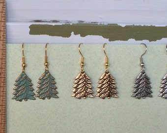 Pine Tree Earrings Only -  BZ Designs - Evergreen Tree
