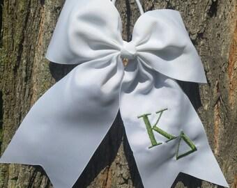 Kappa Delta Hair Bows, Kappa Delta Sorority, Greek hair bow