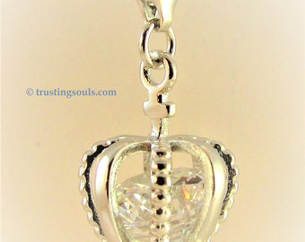 Eyes Of God Bookmark~Silver Crown Charm/Cubic Zirconia~Empowering Teen Girl Bookmark~Trusting Souls~Affirmation for Abused Women