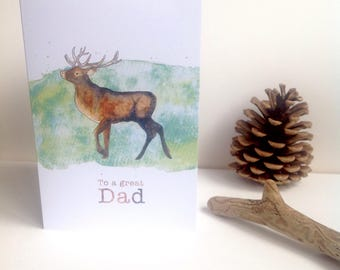 Downloadable print your own card for Dad. Father's day card, Stag