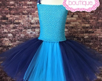Stitch inspired tutu dress. Blue and navy tutu dress.Party dress. Halloween costume.