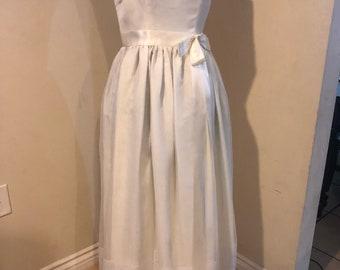 1950's Vintage White Organza Party Dress