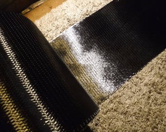 """12"""" tall 20 oz CARBON FIBER FABRIC sold by the linear foot."""