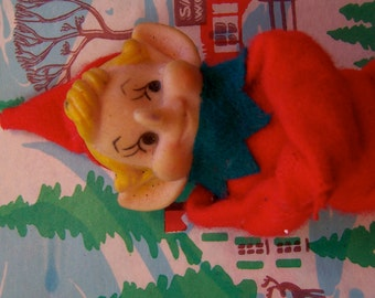 adorable vintage elf figurine