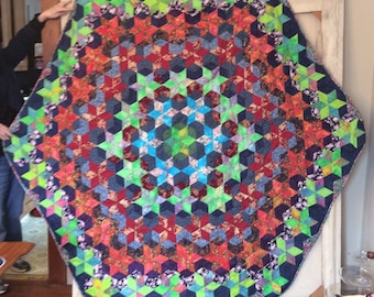 All Stars Hexagon Quilt