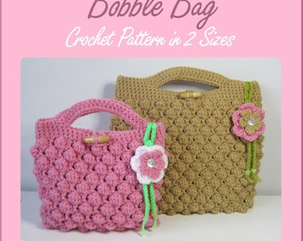 Instant Download PDF - Bobble Bag Crochet Pattern in 2 Sizes
