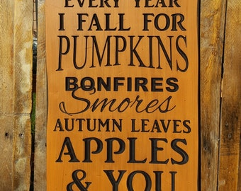 Autumn, Fall, Harvest Thanksgiving sign...