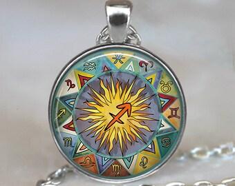 Sagittarius Bohemian Zodiac necklace, Boho Sagittarius necklace Sagittarius jewelry Zodiac jewelry astrology key chain key ring key fob