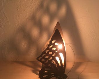 """Brass Menagerie Butterfly Candle Holder 6.5"""""""