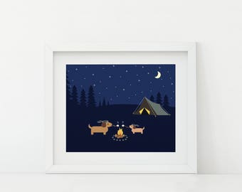 Darby + Dot™ - Campfire S'mores - Art Print