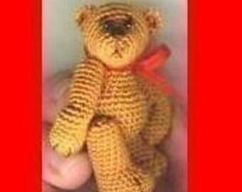 Crochet Pattern - Learn How Make a THREAD Mini BEAR / CLINT Bear -  Pdf Instant Download