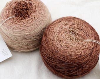 Groovy Lace, 100 g - Coffee Break Gradient - hand dyed single ply gradient yarn