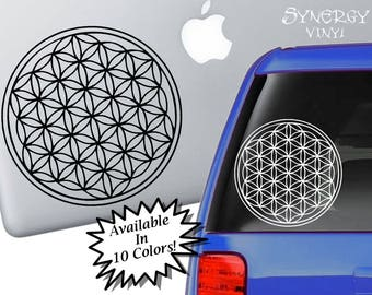 Flower of Life Decal | Sacred Geometry Sticker | Spiritual Decal | Laptop Sticker | Car Sticker | Window Sticker | Sacred Geometry Decal
