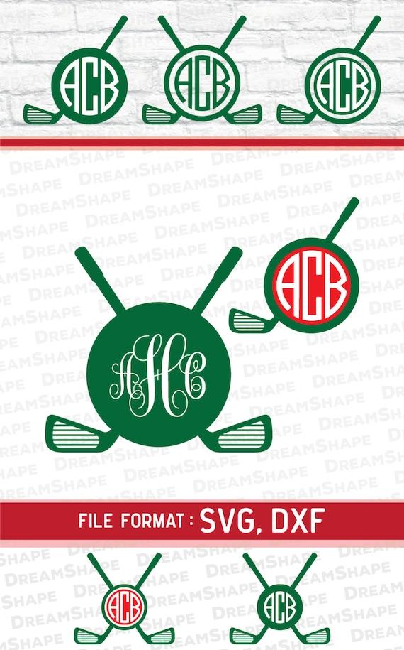 Download Golf SVG Files Golf Monogram Cricut Files Golfing Logo