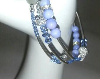Purple/blue wrap bracelet