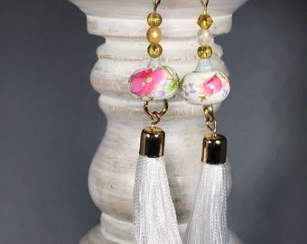 Sicilian Inspired Ceramic Earrings