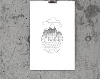 Mt. Rainier Voyager Poster