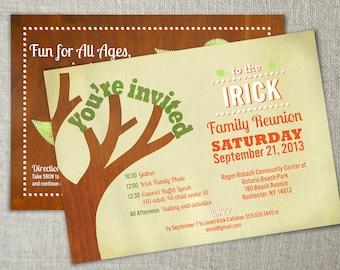 Family reunion invitation // Family gathering invite // Family get together invitation // Family reunion idea