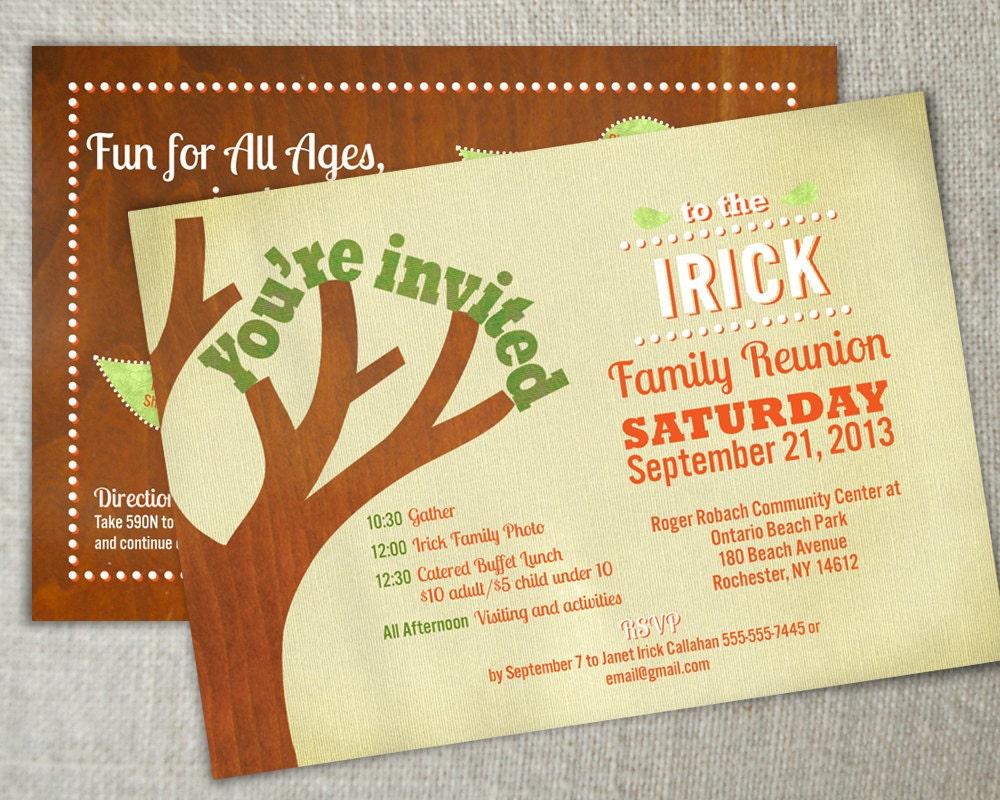 Family reunion invitation Family gathering invite Family