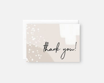 Modern Thank You Notes / Neutral Thank You Cards / Simple Thank You Note Set / Boho Thank You Card Set / Bridal Shower, Baby Shower