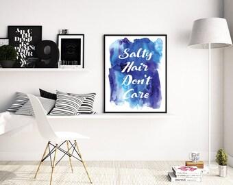 Printable Beach Quote, Beach Wall Art, Quote Art Print, Beach Printable, Beach Decor, Printable Wall Art, Digital Art, Instant Download