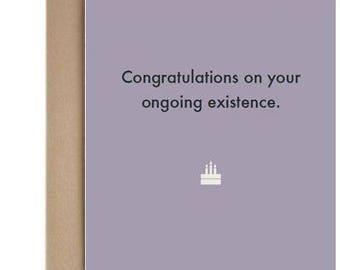 Deadpan Cards: birthday