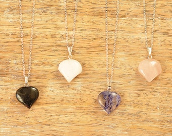 Penelope Gemstone Heart Pendant Necklace