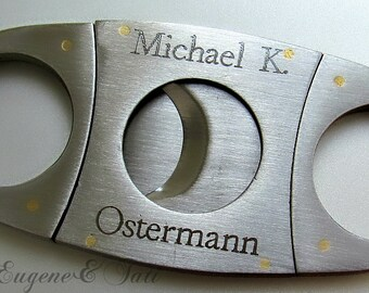 Personalized Cigar Cutter, Groomsmen Gift, Custom Cigar Cutter, Gift for Men, Groomsman, Guillotine Cutter, Golf Gift, Father's Day Gift