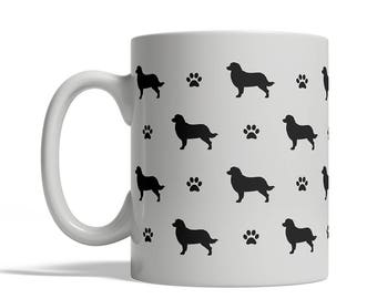 Bernese Mountain Dog Silhouettes Coffee Mug, Cup - 11 oz dog silhouette shape tea