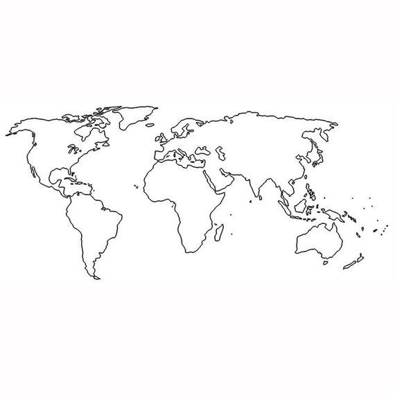 Map Tattoos Set Of World Map Temporary Tattoos Travel - World atlas outline