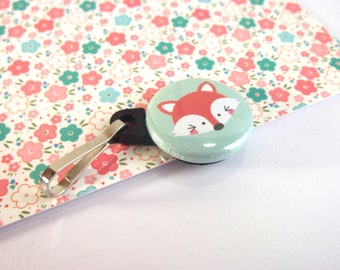 key ring / zipper for closure / zipper or Keychain - Fox /fox