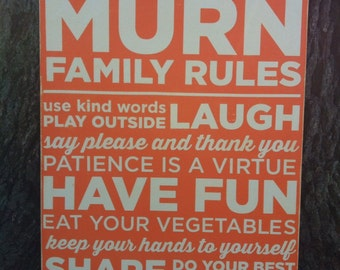 24x32 Custom Family Rules