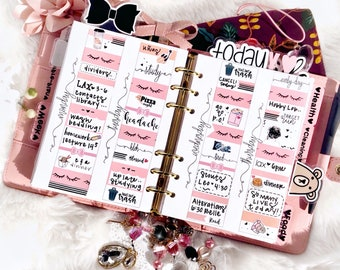 Personal Wide Undated Week on 4 Pages Ring Printable Planner Insert