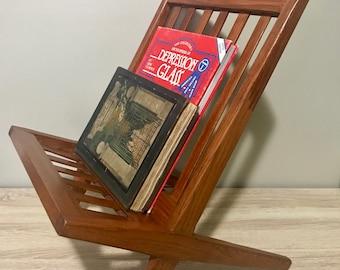 Mid Century Modern Danish Teak Magazine Rack Stand
