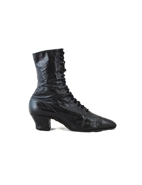 Heeled Up Edwardian Calf of Century Boots Turn Titanic Fashion Antique Fashion Lace Era Mid Leather Boots Victorian the EUWwnqzv7