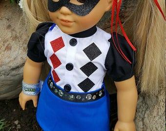 Super Hero High Harley Quinn, Harley Quinn doll outfit, Super Hero High, Harley Quinn doll clothes, Harley Quinn Super Hero High doll outfit