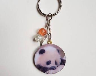 Baby panda keychain