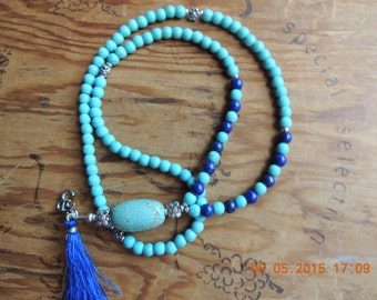 Healing Mala 108 for men and women / Buddhist Prayer Beads - Meditation Bead Mala - 108 bead Mala - Turquoise Mala