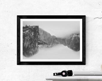 Black and White Print, Surreal print, Landscape, Black and White art, Minimalist Wall Art, Mountain Print, Mountain Wall Art, Minimalist Art