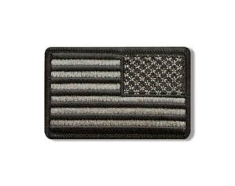 """Right Arm Flag Urban, Iron-on / Saw-on High Thread Embroidered Rayon PATCH - 3"""" X 2"""""""