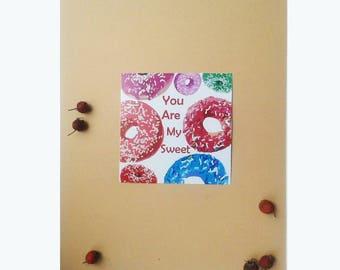 Gift card print  Digital Download You ate my sweet