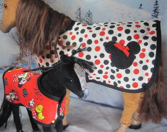 Warm and Comfy Horse Blankets for your Pony's next sleepover. Available in 2 sizes: Full size and colt size. Ready to ship.