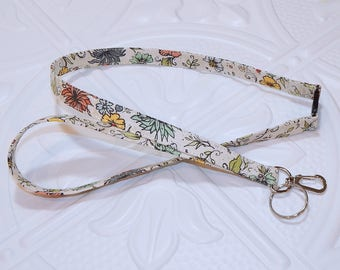 Floral Lanyard - Breakaway Lanyard - Badge Holder - Key Lanyard - Key Chain - Teachers Gifts
