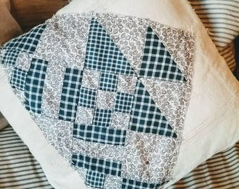 Feed Sack/Quilt Patch Pillow