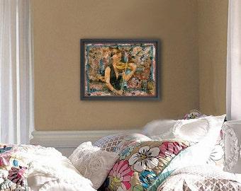 Violinist ORIGINAL art | musical art | musician | mixed media art | collage art | canvas art | musical art | musical artwork | music artwork