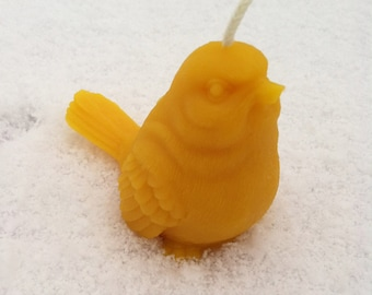 Bird Beeswax Candle